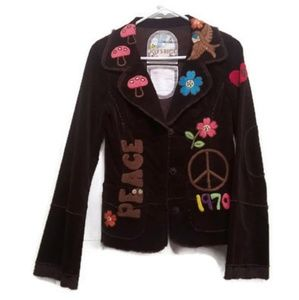 Joystick Johhny Was Sz M Peace Love Hippie Jacket